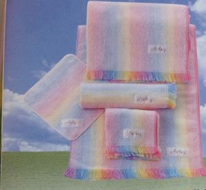 虹のタオル